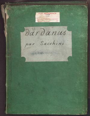 Primary view of Dardanus : tragédie lyrique en quatre actes