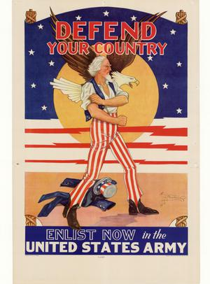 Primary view of object titled 'Defend your country : enlist now in the United States Army.'.