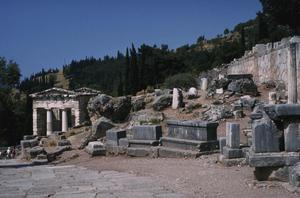 Sanctuary of Apollo with Treasury of Athenians, Stoa and Rock of the Sibyl