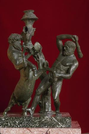 Primary view of object titled 'Herakles and a Centaur'.