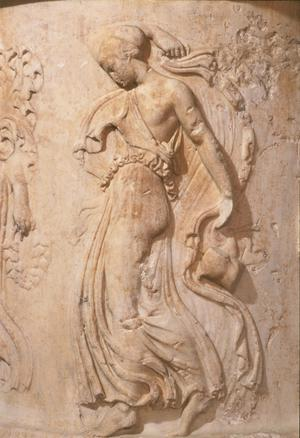 Primary view of object titled 'Pedestal for a Sculpture with Dancing Maenads'.