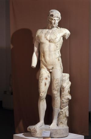 Primary view of object titled 'Apollo from the Tiber'.