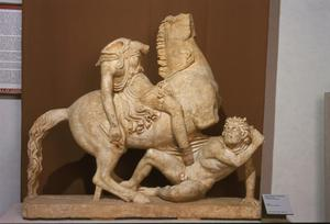 Primary view of object titled 'Battle of a Mounted Amazon and a Barbarian'.