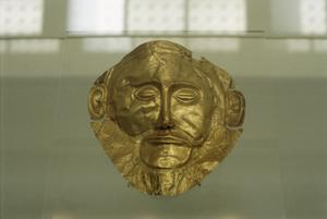 Primary view of object titled 'Funerary Mask'.