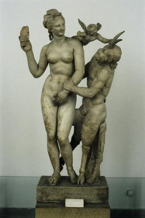 Primary view of object titled 'Aphrodite, Eros and Pan'.
