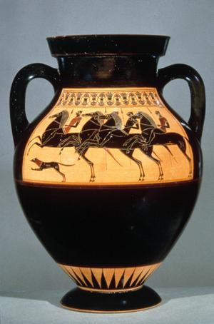 Primary view of object titled 'Black-figured Amphora'.