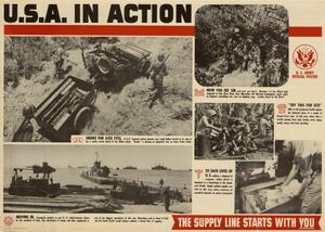 Primary view of object titled 'U.S.A. in action : the supply line starts with you.'.