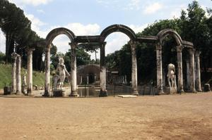 Primary view of object titled 'Hadrian's Villa at Tivoli. Canopus and Serapeum.'.