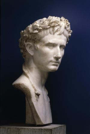 Primary view of object titled 'Bust of Augustus'.