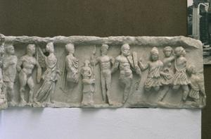 Primary view of object titled 'Relief frieze from Hadrian's temple in Ephesus'.