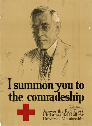 Primary view of object titled 'I summon you to the comradeship : answer the Red Cross Christmas Roll Call for Universal Membership.'.