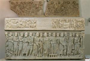 Primary view of object titled 'Sarcophagus of Marcus Claudianus with Scenes of Old and New Testaments'.