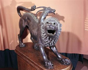 Primary view of object titled 'Chimera of Arezzo'.