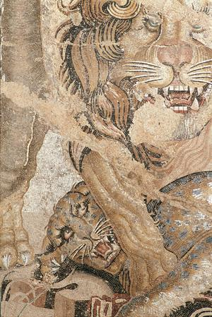 Primary view of object titled 'A Lion Grasping a Panther'.