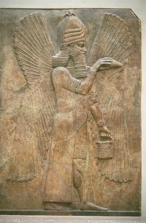 Primary view of object titled 'A Winged God or Priest Blessing'.