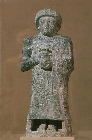 Primary view of object titled 'Votive Statue of Gudea, Prince of Lagash'.