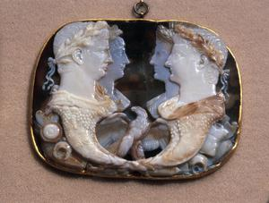 Primary view of object titled 'Füllhorn Cameo of Claudius'.
