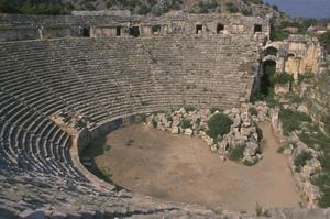 Primary view of object titled 'Myra, the Greco-Roman Theater complex'.