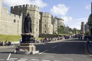 Primary view of Queen Victoria Statue at Windsor Castle