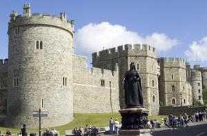 Primary view of object titled 'Queen Victoria Statue at Windsor Castle'.