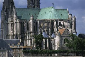 Primary view of Cathedral of Notre Dame at Chartres