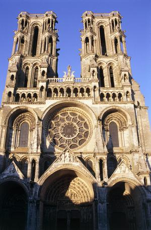 Primary view of Laon Cathedral of Notre Dame