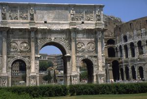 Primary view of object titled 'Arch of Constantine'.