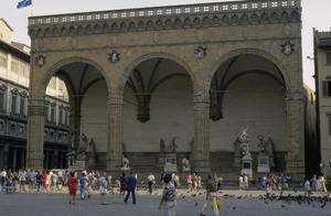 Primary view of object titled 'Loggia dei Lanzi'.