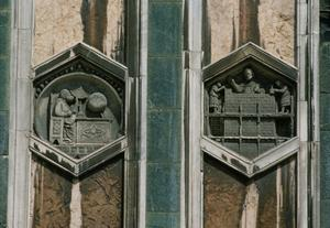 Primary view of Two Hexagonal Reliefs from the Campanile, Florence