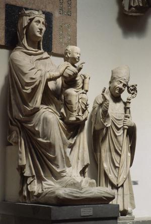 Primary view of Madonna with Child and Saints Zenobius and Reperata