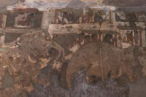 Primary view of object titled 'Ajanta, Cave 17 Painted Wall'.