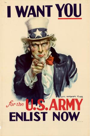 Primary view of object titled 'I want you for the U.S. Army : enlist now.'.