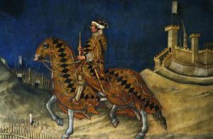 Primary view of Equestrian Guidoriccio da Fogliano, victor, siege of Monternassi