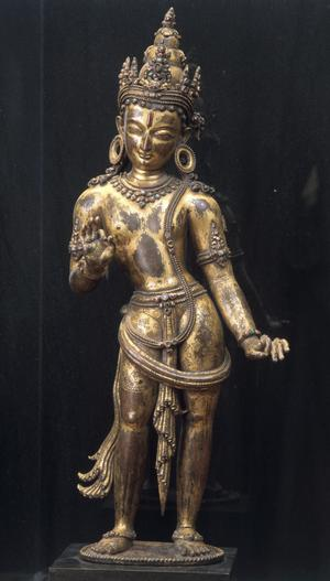 Primary view of object titled 'Manjushri, Bodhisattva of Wisdom'.
