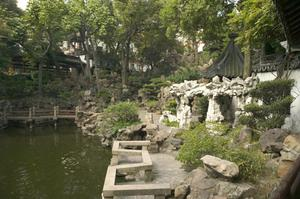 Primary view of object titled 'Yu Garden (Yuyuan): Garden View'.