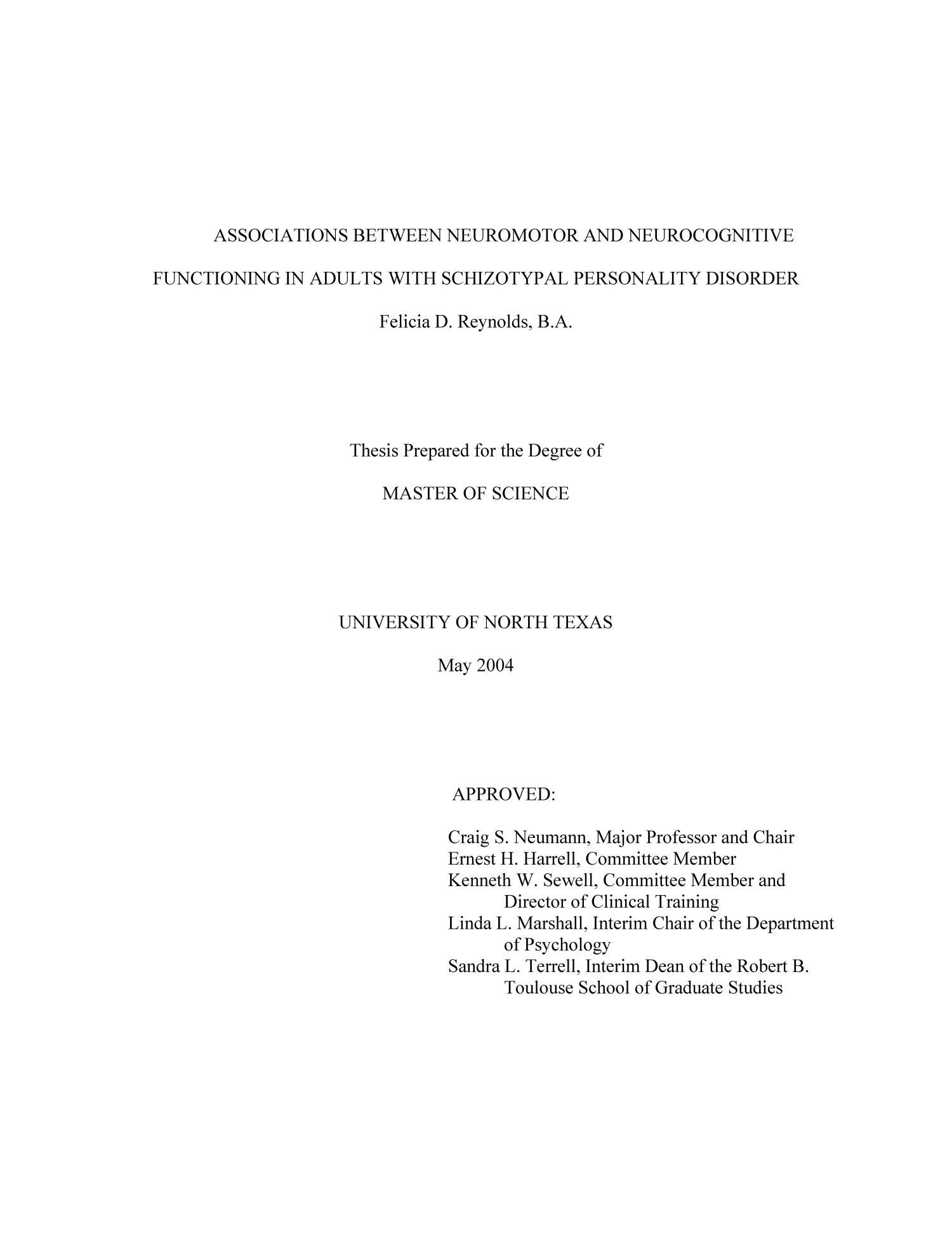 Associations Between Neuromotor and Neurocognitive