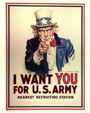 Primary view of object titled 'I want you for U.S. Army : nearest recruiting station.'.