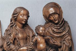 Primary view of object titled 'Virgin and Child with Saint Anne'.