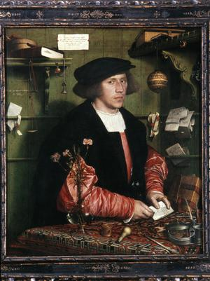 Primary view of object titled 'Portrait of the Merchant Georg Gisze'.