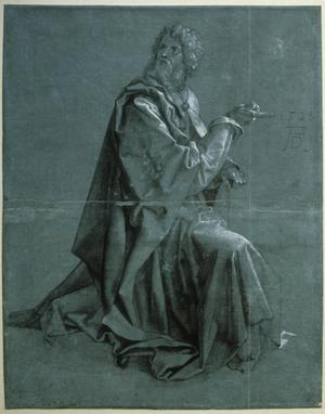 Primary view of object titled 'A Kneeling Apostle'.