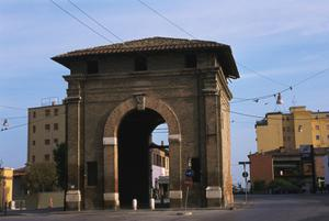 Primary view of Porta Serrata. City Gate