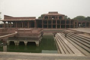 Primary view of Peerless Pool in Fatehpur Sikri Palace Complex