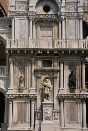 Primary view of object titled 'Arco Foscari, Triumphal Arch facing the Scala dei Giganti, Courtyard of Doge's Palace (1608-15)'.