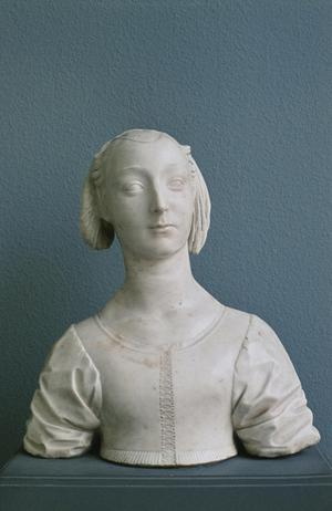 Primary view of object titled 'Bust of Marietta Strozzi'.