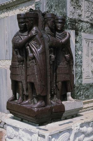 Primary view of object titled 'Portraits of the Four Tetrarchs'.