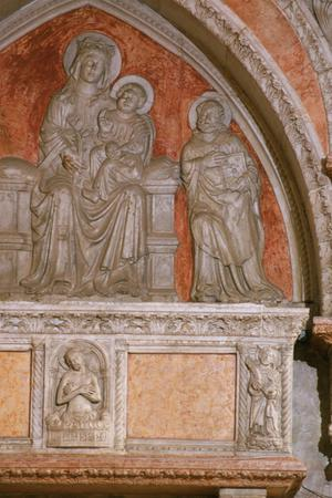 Primary view of Tomb of Doge Antonio Venier's wife, Agnese (d.1410), and daughter, Ursula (d.1411), and granddaughter Petronilla de Toco