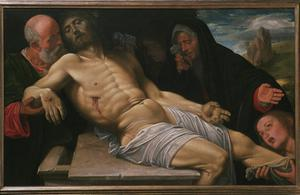 Primary view of object titled 'Lamentation over Christ'.