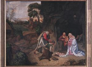 Primary view of object titled 'Adoration of the Shepherds (unfinished)'.