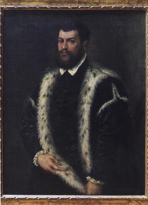 Primary view of object titled 'A Man in Black with a Lynx Fur'.