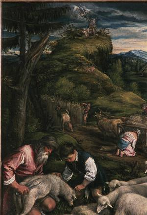 Primary view of object titled 'Summer: Shearing of Sheep, with Abraham and Isaac'.